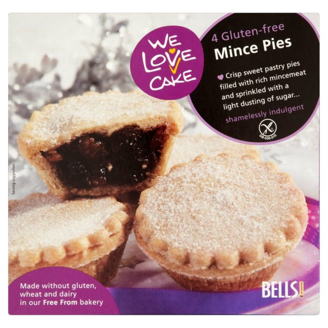 we love cake mince pies